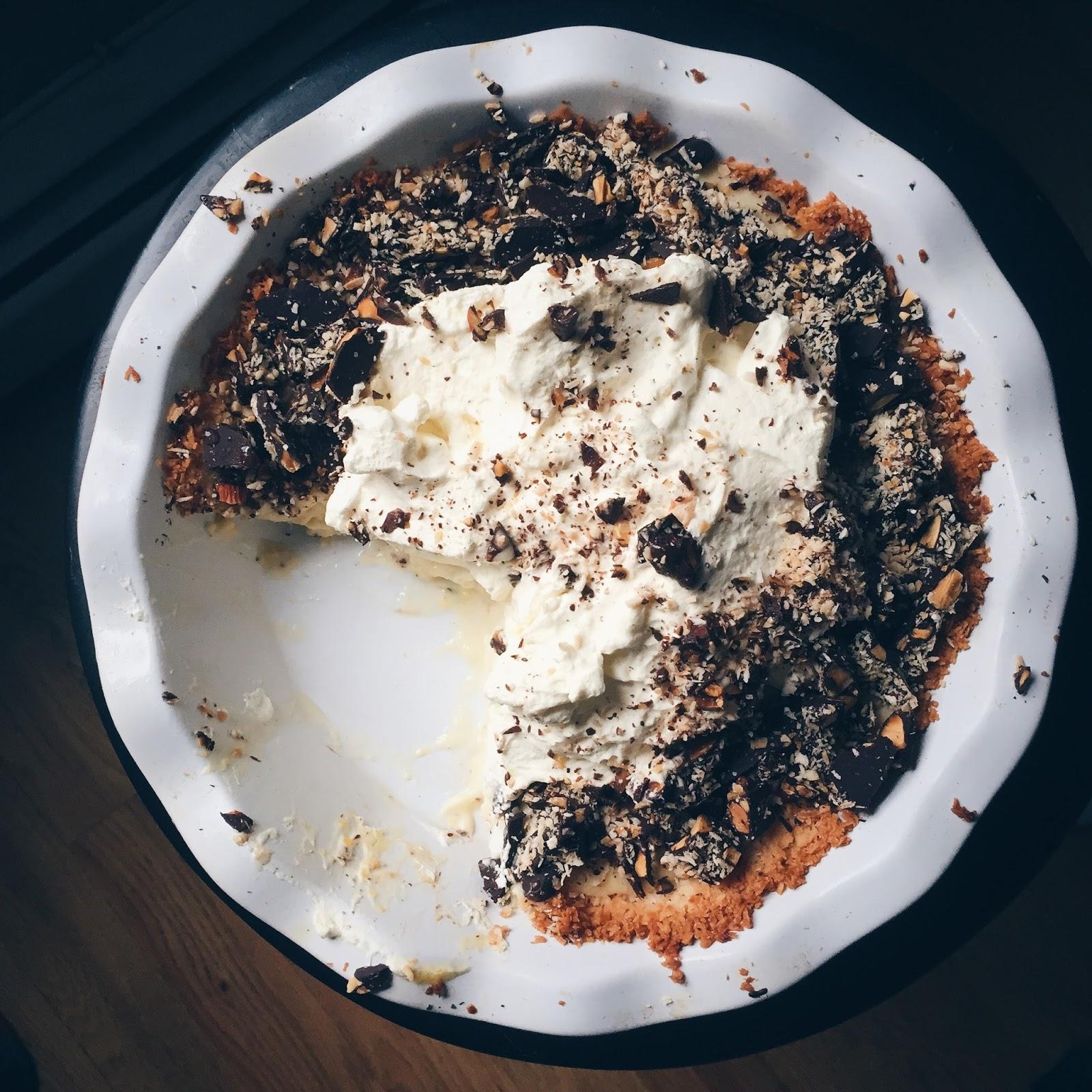 Chocolate Macaroon Pie - Crazy for Crust |Coconut Almond Macaroon Pie Crust