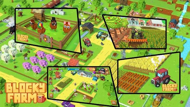 Tải Blocky Farm Game NÔNG TRẠI cho ANDROID HAY có đồ họa giống minecraft 2019