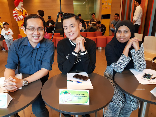 Judges, show yourselves! The awesome Datuk Aznil was there too