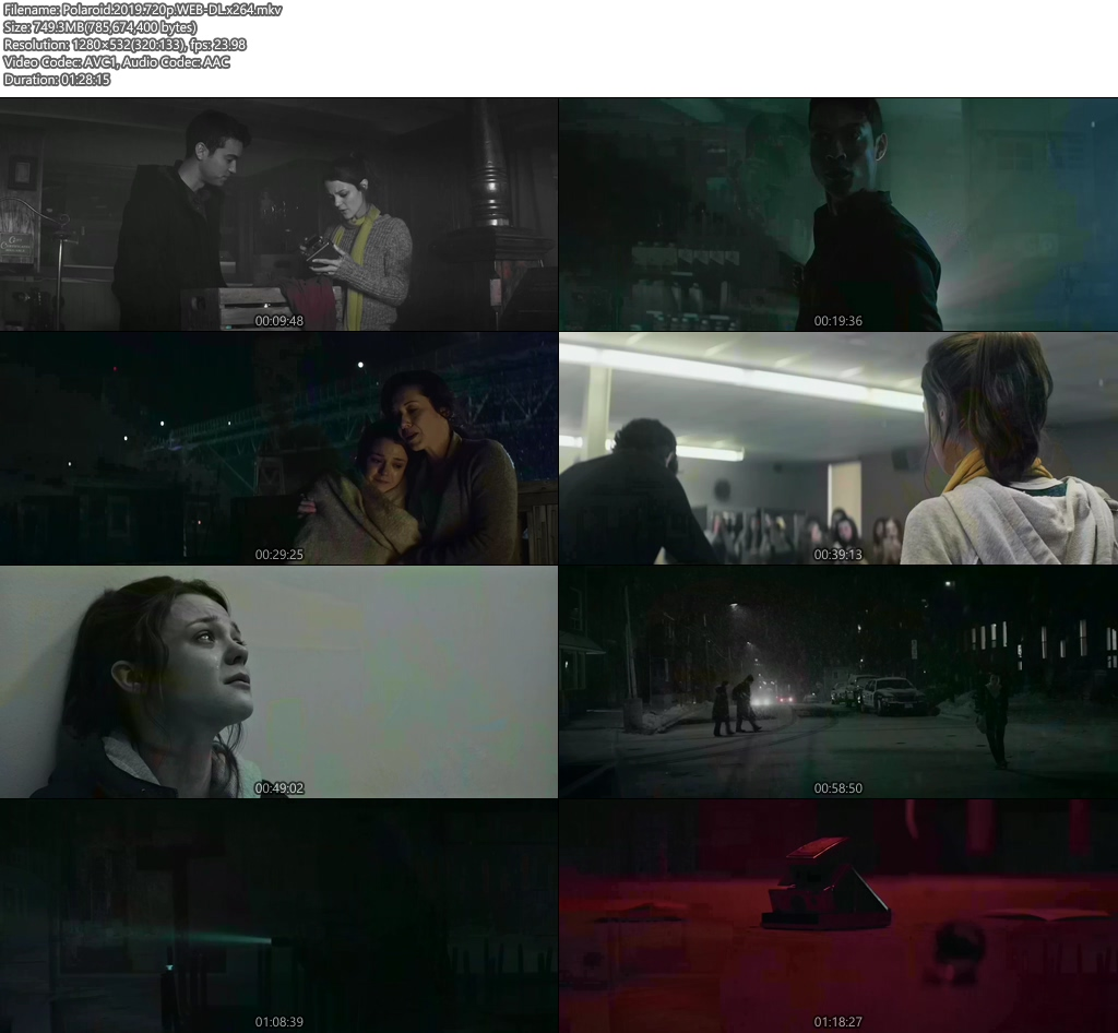 Polaroid 2019 720p WEB-DL x264 | 480p 300MB | 100MB HEVC Screenshot