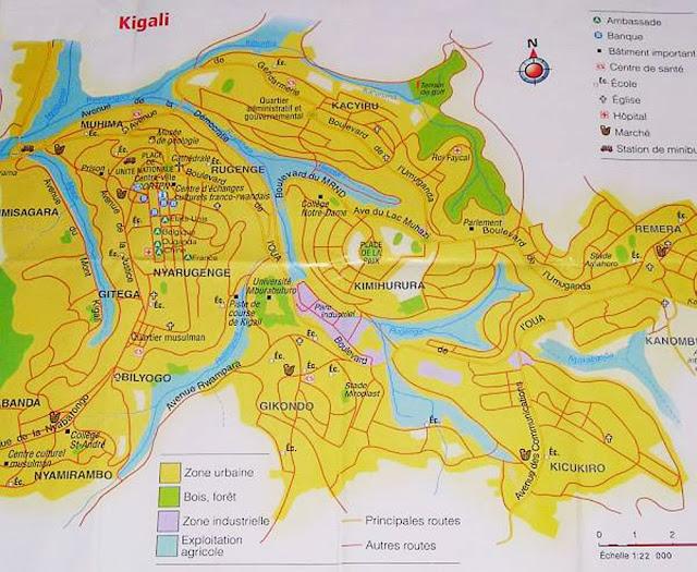 Mapa de Kigali - Ruanda