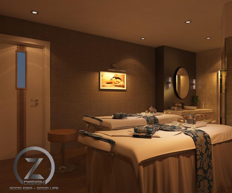 Thiết kế phòng massage độc đáo trong khách sạn Majestic