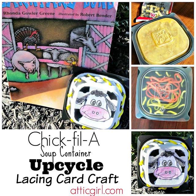 DIY Lacing Card, cow crafts, kids crafts, fine motor skills activities, book extension crafts, barnyard song