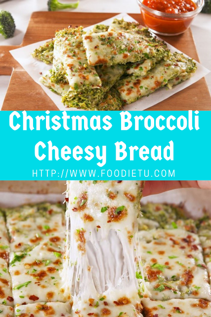 Christmas Broccoli Cheesy Bread
