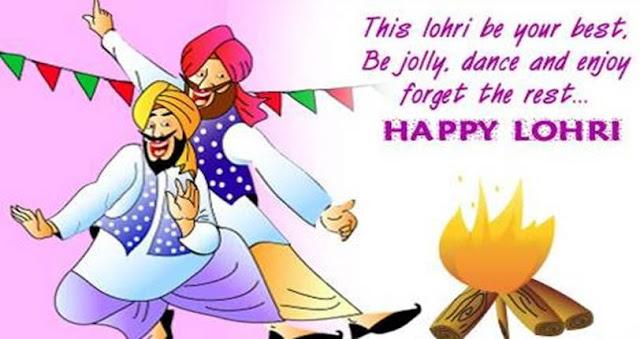 Handmade Lohri Greetings Cards