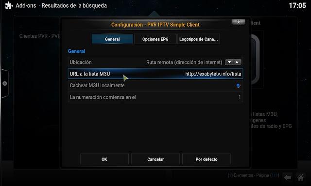 Kodi PVR IPTV Config