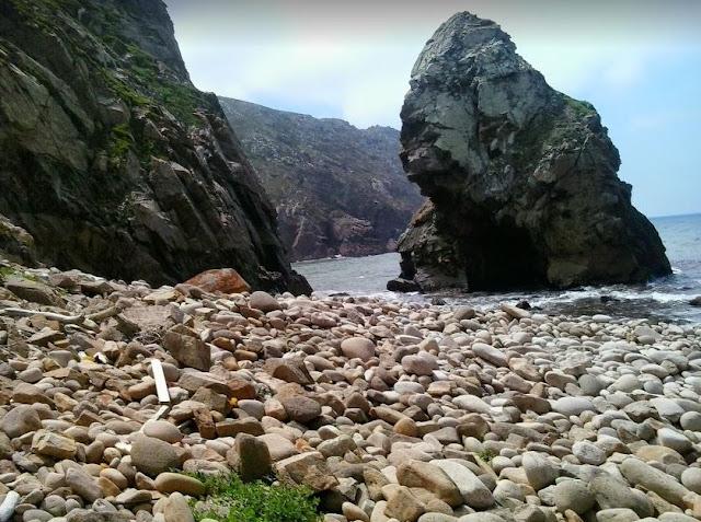 Spiaggia di sassi a Cabo da Roca