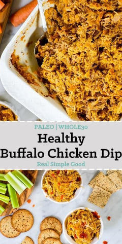 Healthy Buffalo Chicken Dip