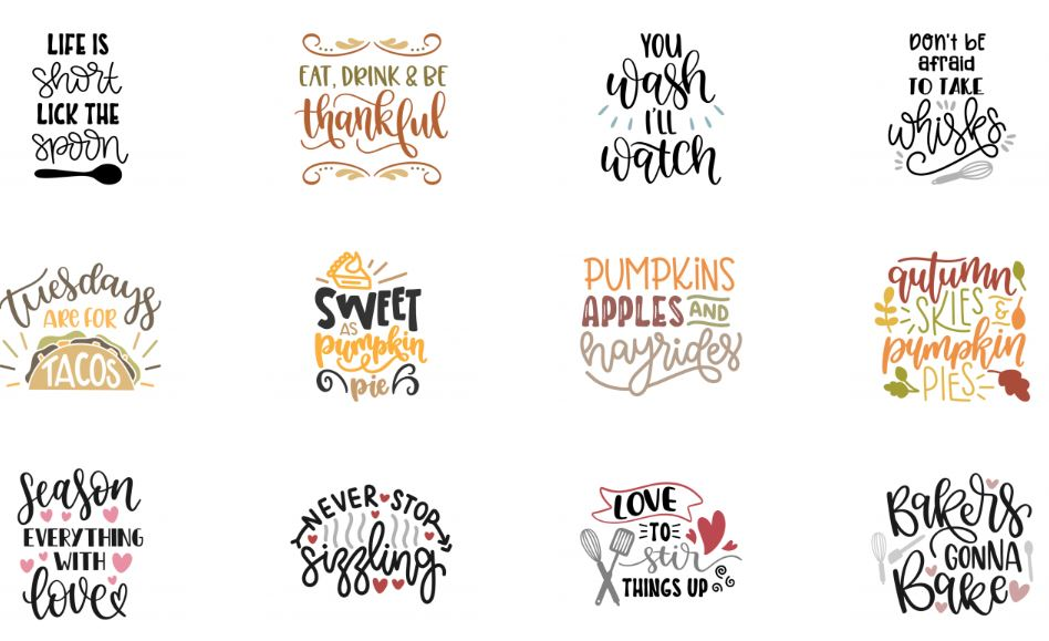 Free Kitchen & Baking Themed SVGs