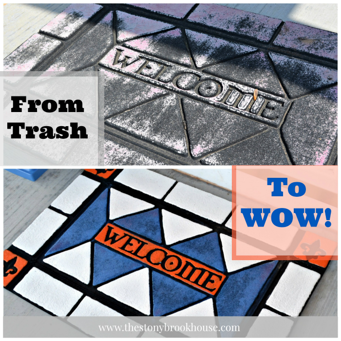 Trashy welcome mat to WOW mat