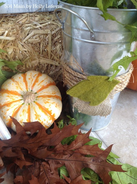 Amazing Fall porch decor and a pumpkin sign