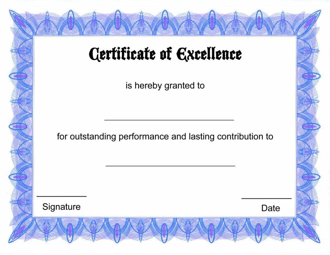 Free Certificate Template Download Drfse  Free Voucher Template Downloads