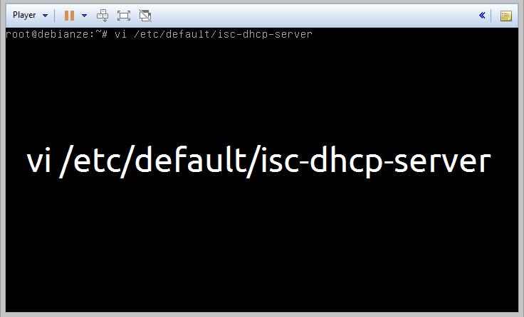 configuração isc-dhcp-server debian