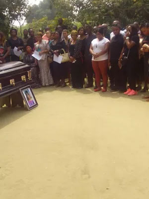 Queen Ekong, victim Of Reigners Bicle Church collapse, laid to rest