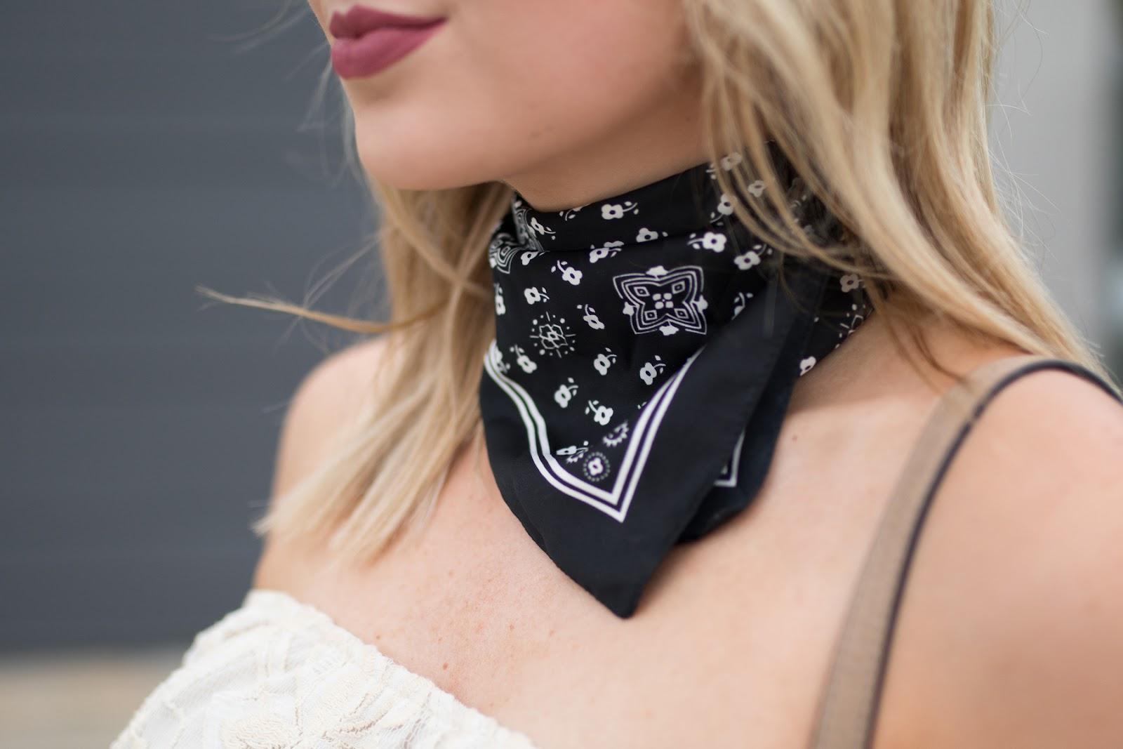 Bandana neck scarf