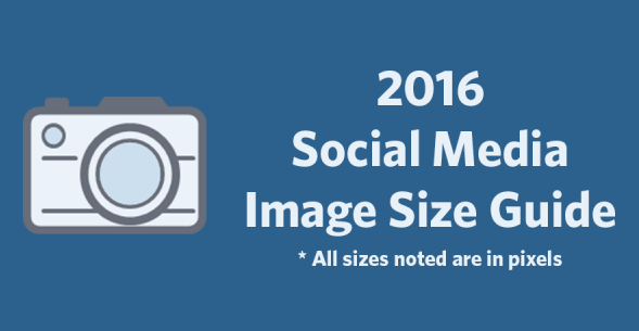 2016 Social Media Image Size Cheat Sheet | #Infographic