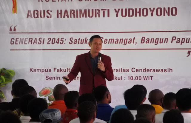 Inilah Pesan Agus Harimurti Yudhoyono untuk Pemuda Papua