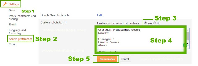 how to add robot.txt to blogger