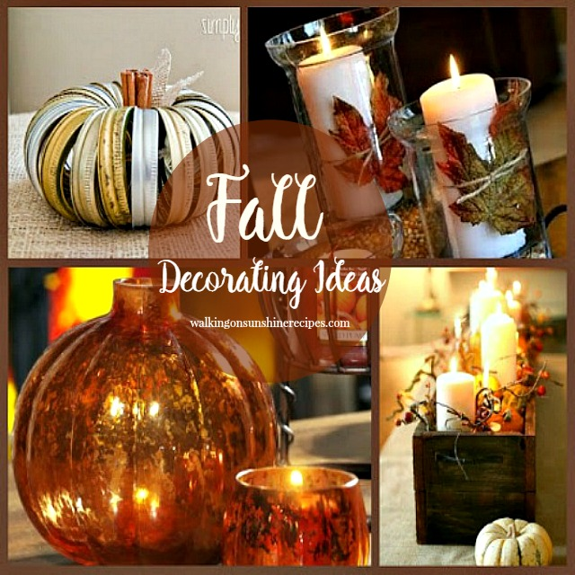 Fall Decorating Ideas from Walking on Sunshine