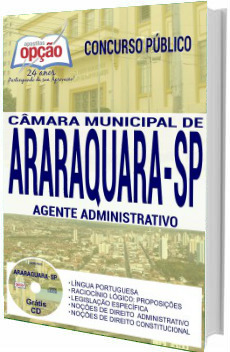 Apostila concurso Câmara de Araraquara 2017 - Agente Administrativo