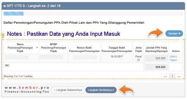 Data Input Harta Sistem eFiling DJP Online