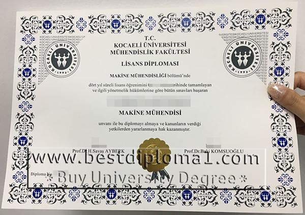 Kocaeli University diploma master fake