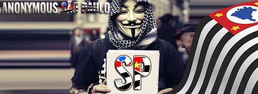 Nós somos Anonymous.  Nós somos Legião. Nós não perdoamos. Nós não esquecemos. Esperem por nós.