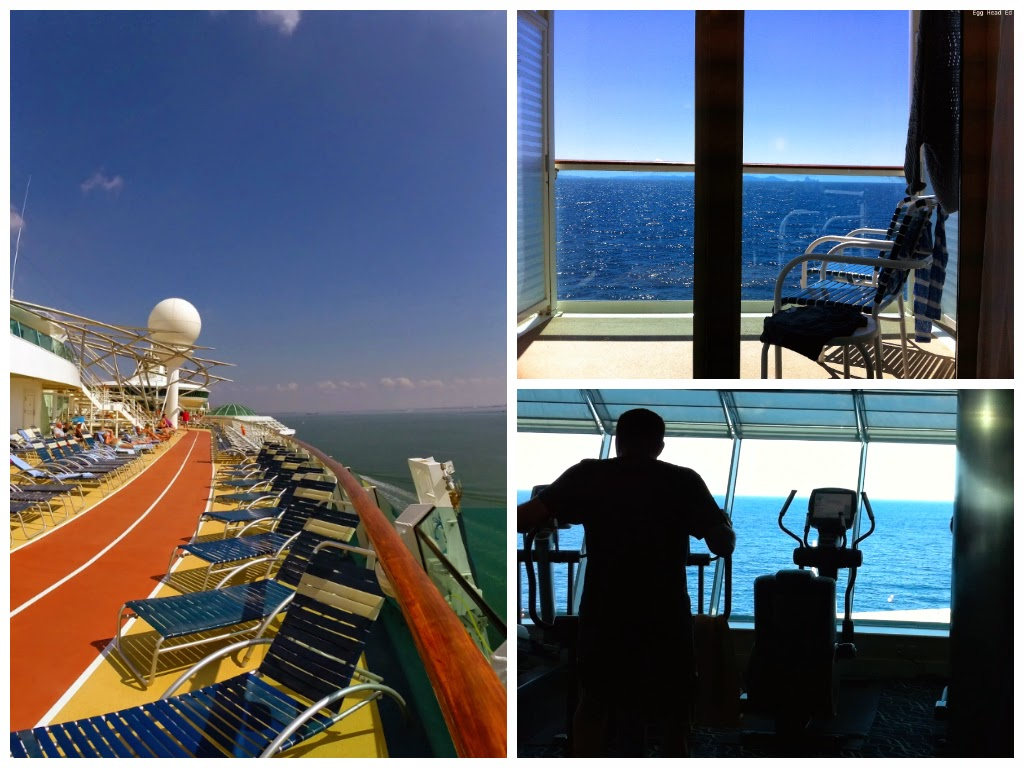 Fitness centre onboard Independence of the Seas