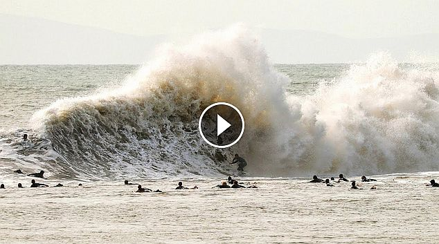 Surfing Mutant Waves at California s Beast of Backwash Sandspit