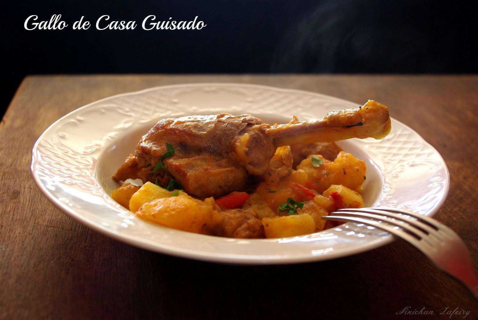 Gallo de casa guisado pollo de corral recetas de una - Pollo de corral guisado ...