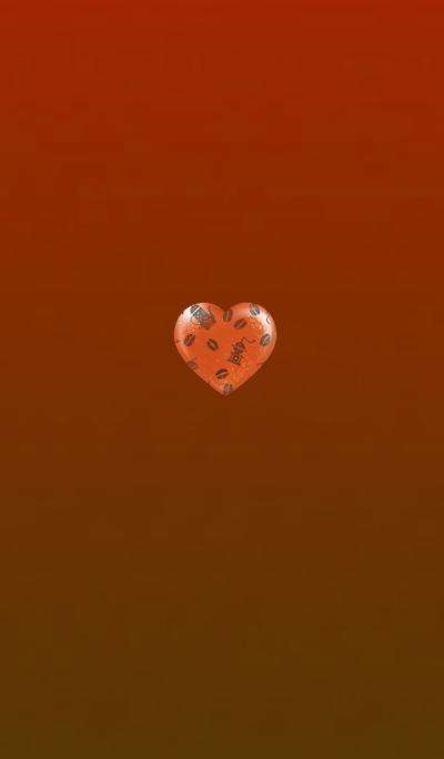 Coffee Heart Orange