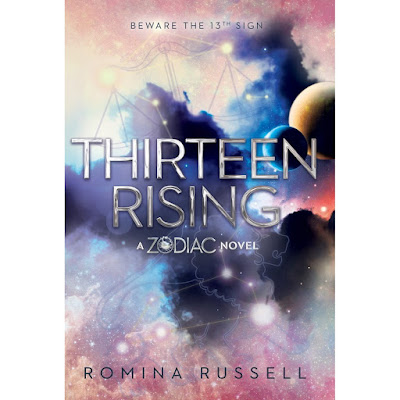 thirteen rising, zodiac, book, romina russell, space, fantasy, sci-fi, romance