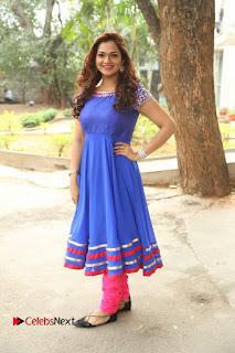 Actress Ashwini Stills in Blue Chudidar at Ameerpet Lo Release Press Meet  0205.JPG