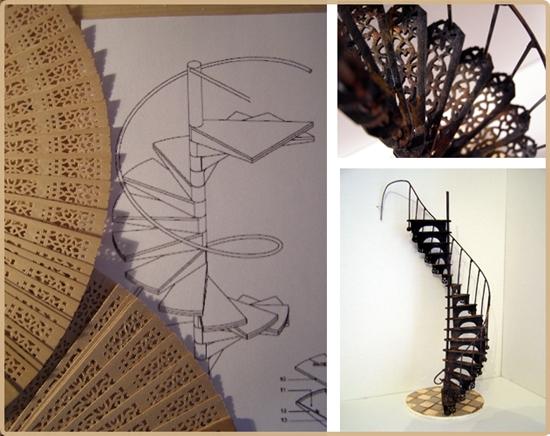 el aspecto final puede resultar muy atractivo ya que una vez acabada se puede pintar con pintura metalizada imitando una escalera de caracol metlica