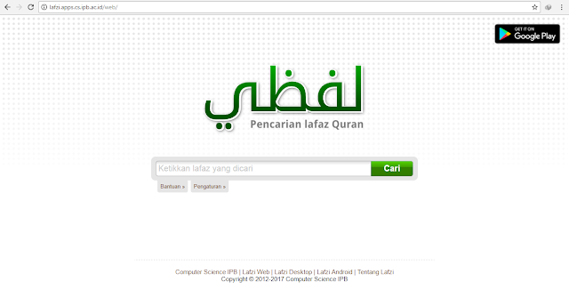 Catatan Ikrom Aplikasi Web Lafzi