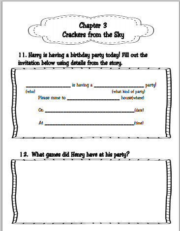 Learning With Firsties: Literature Circles and Craftivities