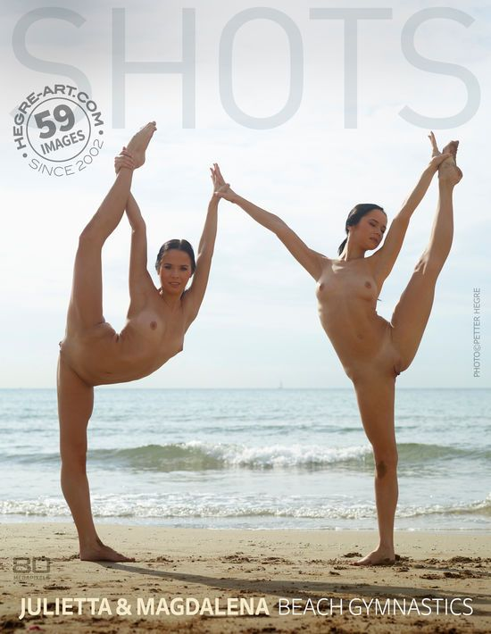 Hegre-Art - Julietta And Magdalena - Beach Gymnastics - idols