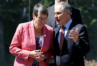 EPA Administrator Scott Pruitt talks with German Environment Minister Barbara Hendricks during a summit of Environment ministers from the G7 group of industrialised nations in Bologna, Italy June 11, 2017. (Credit: Reuters/Max Rossi) Click to Enlarge.