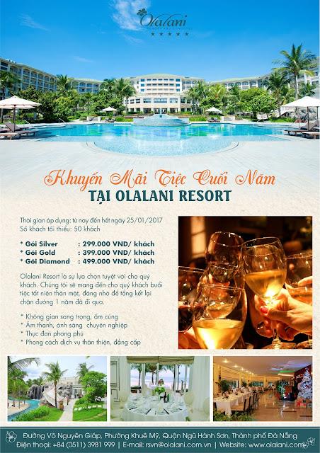 Khuyến mãi tiệc cuối năm tại Olalani Resort