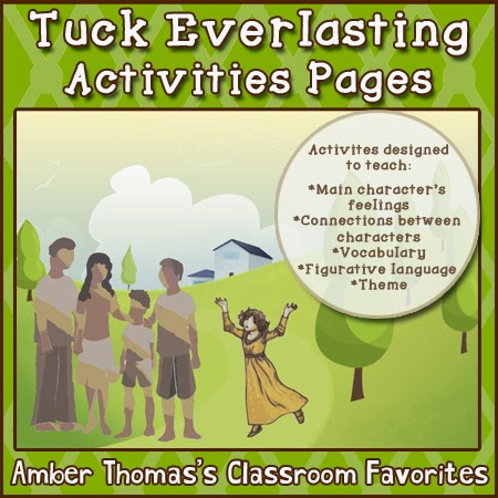 http://www.teacherspayteachers.com/Product/Tuck-Everlasting-Activities-Pages-1466056