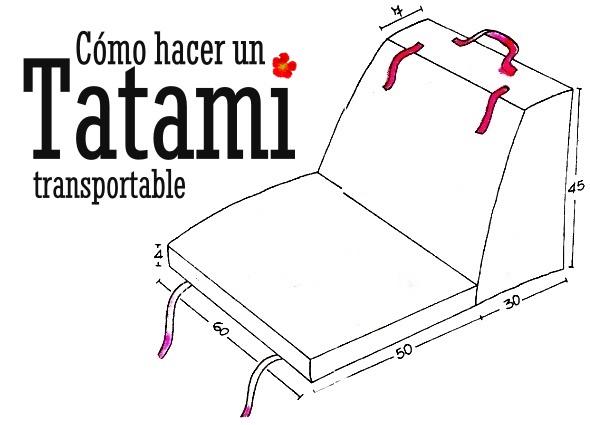 tatami, sillón japonés, costura, labores