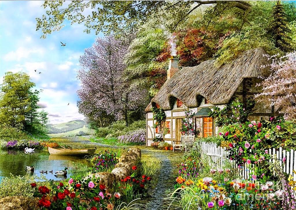 cuadros-al-oleo-de-paisajes-con-flores