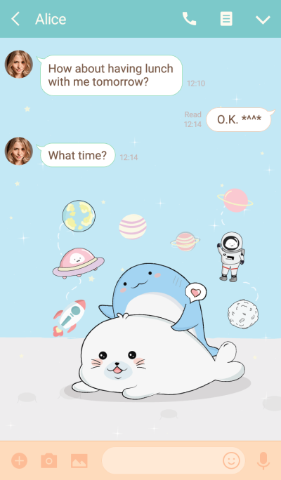 Seal and Whale 2 (Blue Ver.)