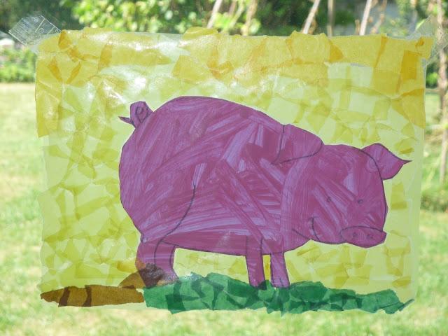 Dekoration zum Thema Schwein