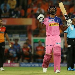 राजस्थान रॉयल्स के  संजू सैमसंग आईपीएल 2019 के शतक लगाने वाले पहले खिलाड़ी बने