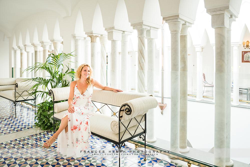 Bride to be at Palazzo Avino