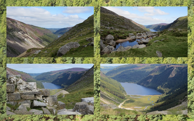 Hillwalking at Glendalough in County Wicklow - Glenealo River and Upper Lake Views