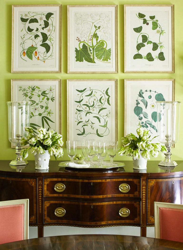 inspiracion-greenery-pantone-laminas-botanicas-decoracion-clasica