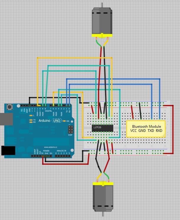 Rangkaian Driver Motor L293d : rangkaian, driver, motor, l293d, BoArduino:, Mengontrol, Motor, Dengan, Android, Arduino