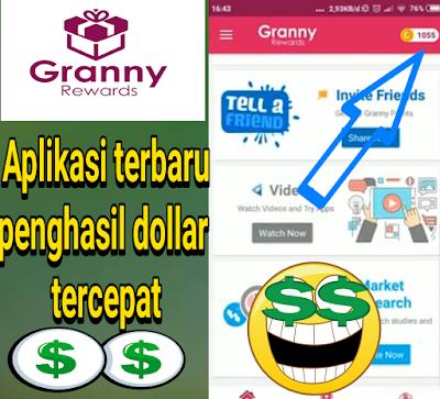 Review Aplikasi Granny Rewards penghasil dollar gratis, aplikasi terbaru 2019